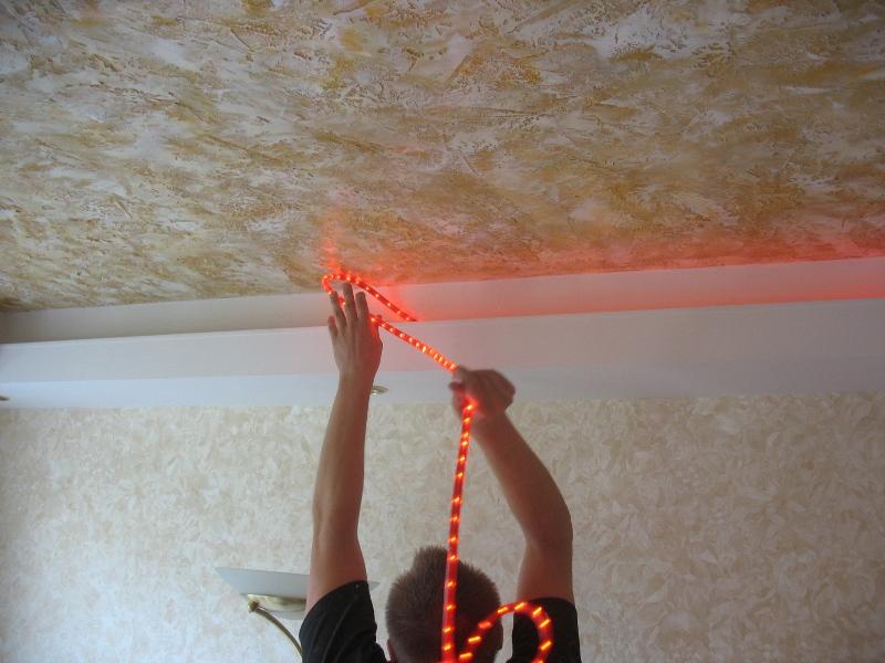 Gaismas virtenes, gaismas griestos, 12v gaisminas, gaismas regipša konstrukcijā