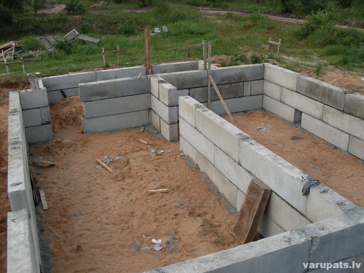 Betona bloku pamati, fbs pamatu bloki, betona pamatu bloki, pamati no betona fbs blokiem