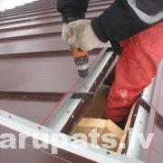 Metāla jumts, jumta kore ventilējama