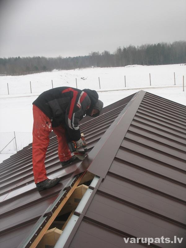 Ventilējama jumta kore, metāla jumta kore