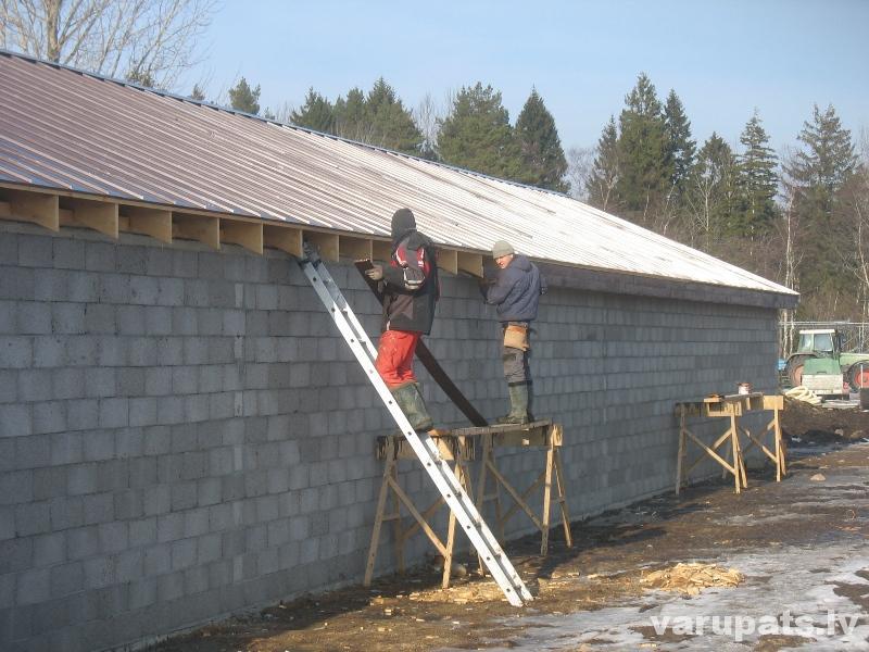 metāla jumts, valcprofils, labs jumta segums