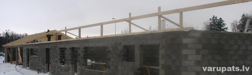 Jumta konstrukcija, metāla jumta segums, valcprofils