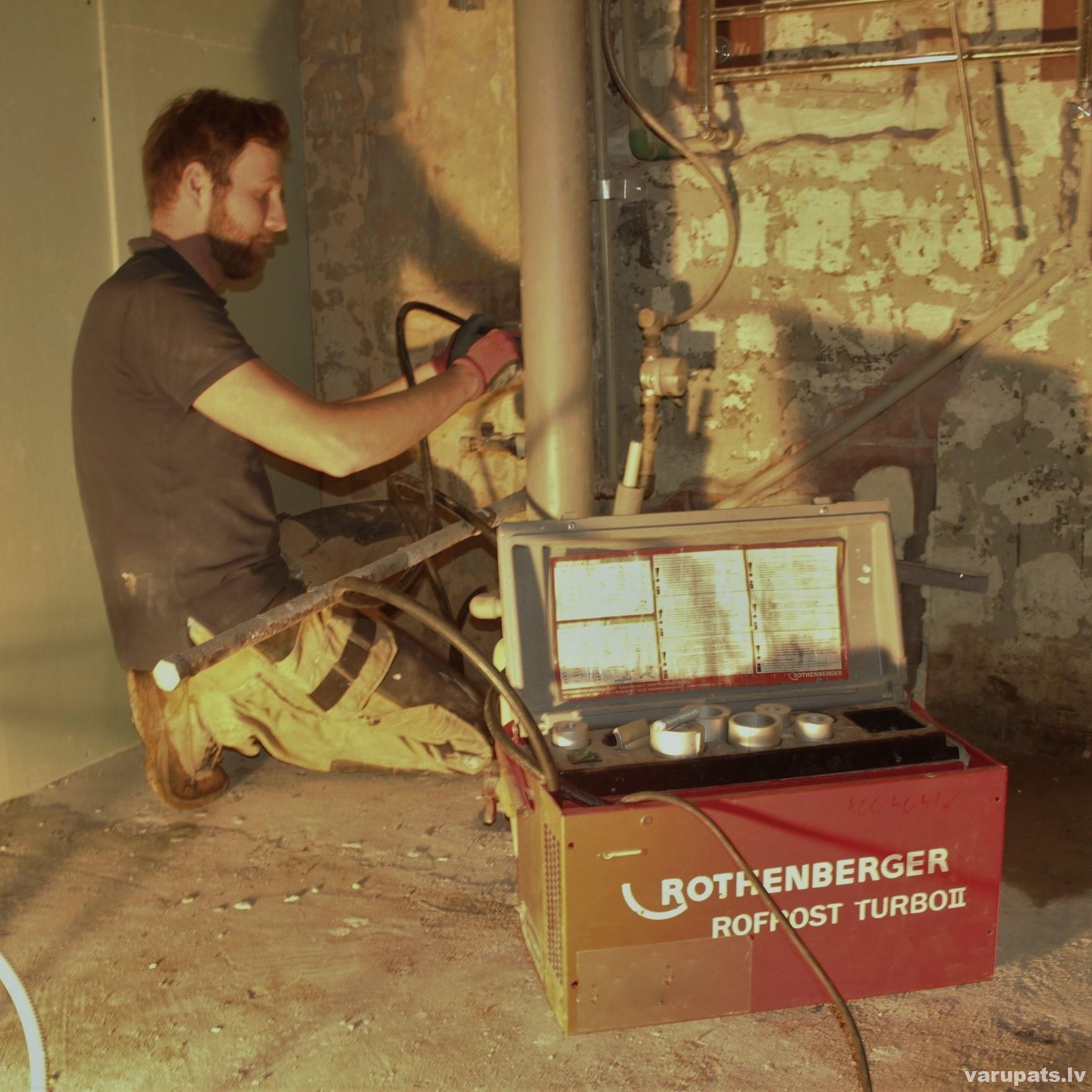 auruļu sasaldēšana, cauruļu nomaiņa sasaldējot caurules, rothenberg