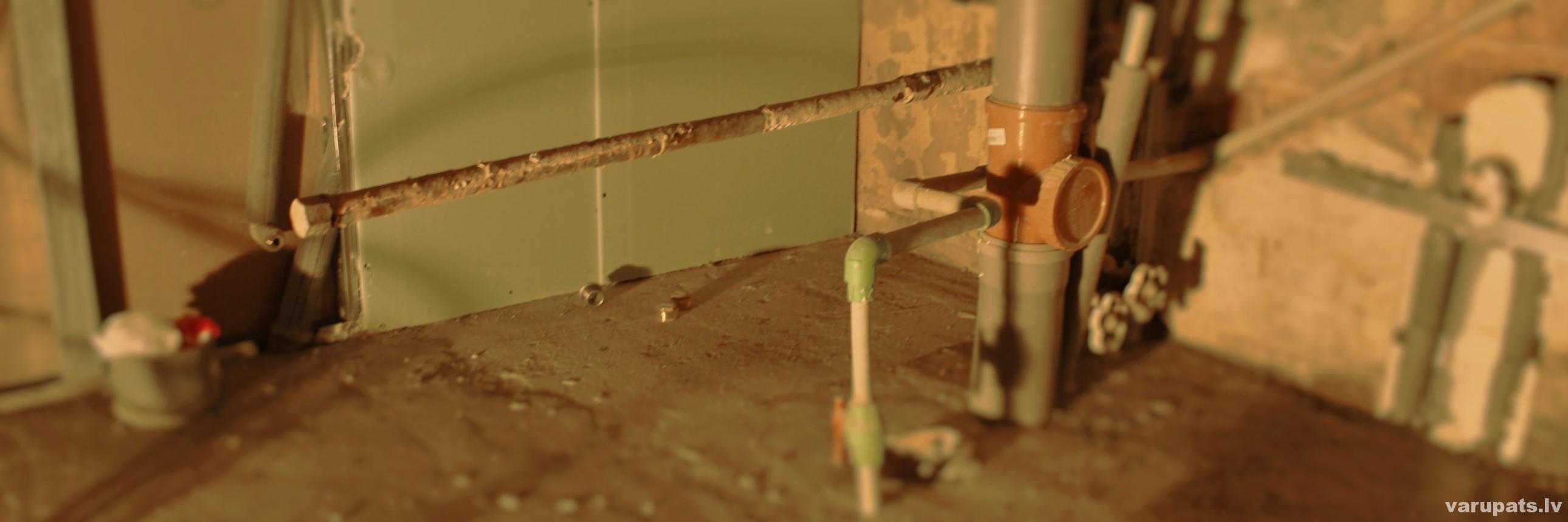 cauruļu sasaldēšana, cauruļu nomaiņa sasaldējot caurules