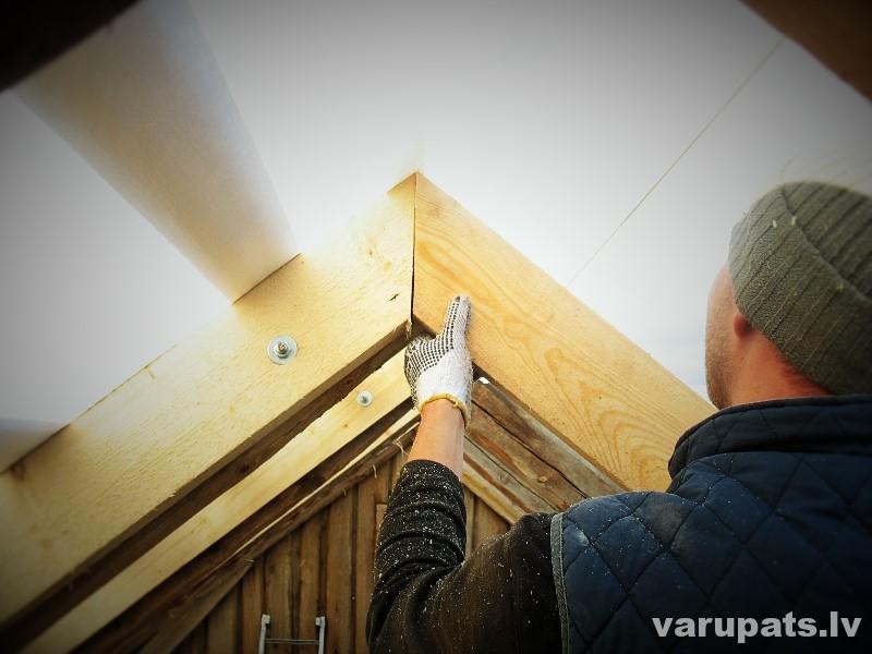 jumta spāru konstrukcijas izveide