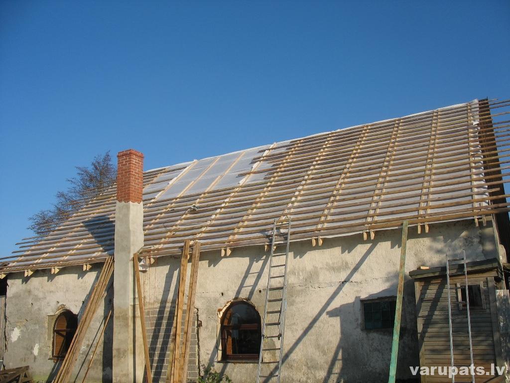 jumta iztaisnošanas darbi ir paveikti