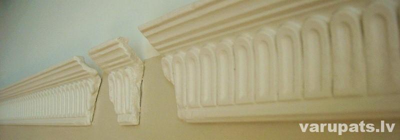 retro stils ģipša izskatā putopolistiriola līstes