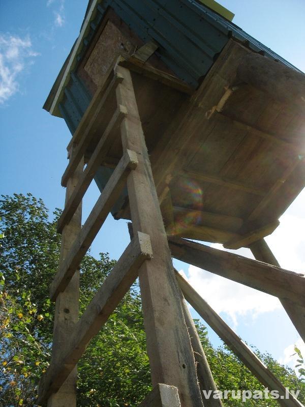 mednieku tornis mednieku tornis, medību tornis, medību torņa buvniecība, izmēri medību tornim, kā izveidot medību torni, medību torņa kāpnes, medību tornis rasējums