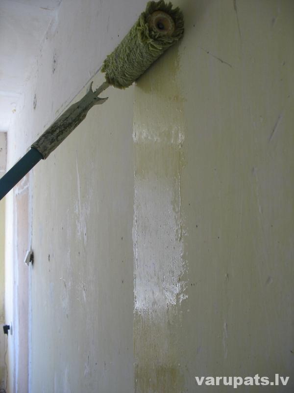 sienas gruntēšana,
