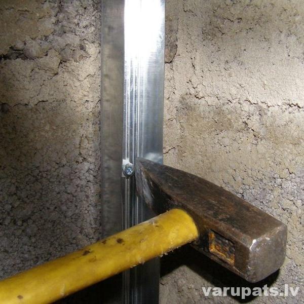 Metāla karkasa izveide reģipša sienai
