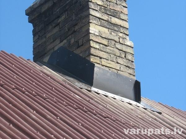 skursteņa ieseguma metāls,jumts