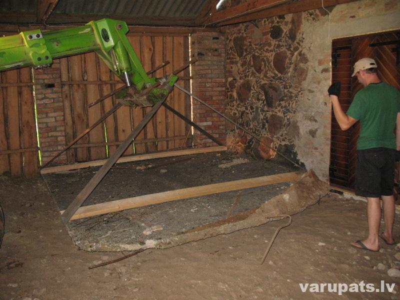 Veco betona plākšņu otrā dzīve