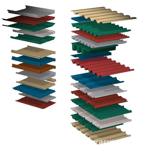 Metāla jumta segums formas
