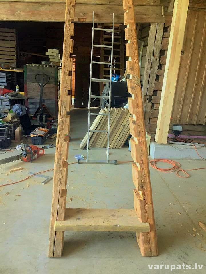 trepju kāpslis, kāpnes, trepes no koka