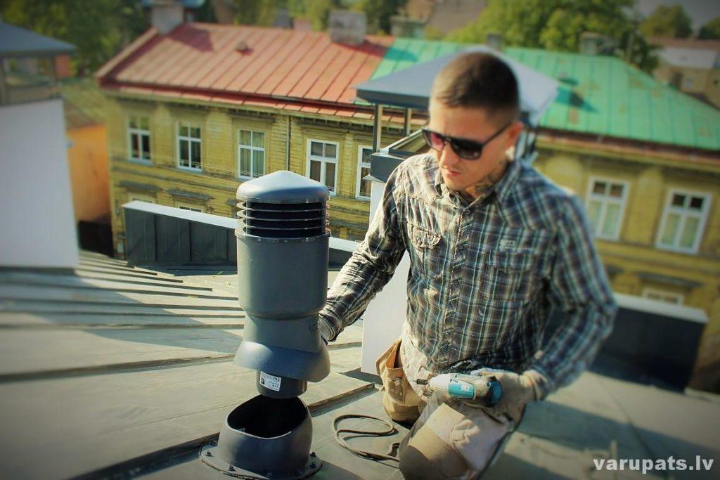 ventilācijas skurstena montāža, diy