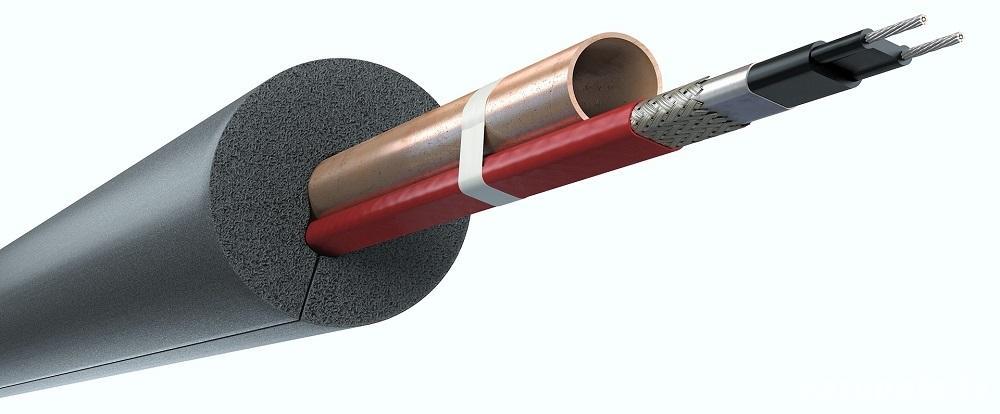 Apsildes kabelis caurulēm, apsildes kabelis Devi, kabelis pie caurules