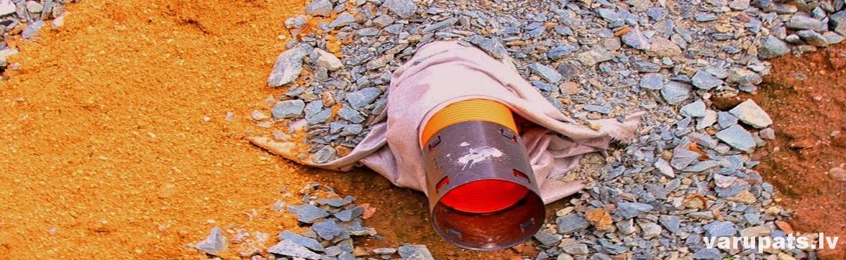drenāžas caurules ar ģeotekstila apvalku, drenāžas caurules cena, drenāža kanalizācijai, infiltrācijas lauks no drenāžas caurlēm, varupats.lv