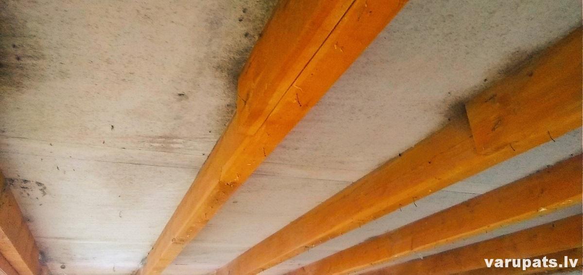jumta spāres ar pretokondesāta plēvi, jumta spāru starpu siltināšana, mansarda siltinasana