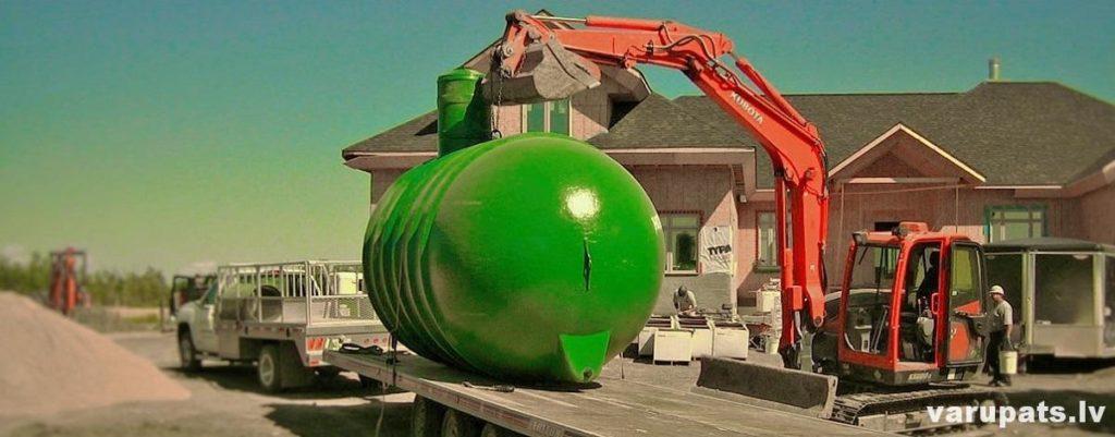 kanalizācijas sistēmas izveide, kanalizācijas izbūve privātmājai, kanilizācijas izveide paša rokām, kanalizācijas izveide, plastmasas kanalizācijas tvertne