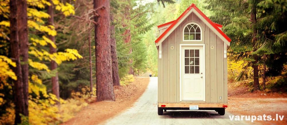 maja uz riteņiem, parvietojams dzīvojamais vagoniņš, parvietojams dzīvojamā māja