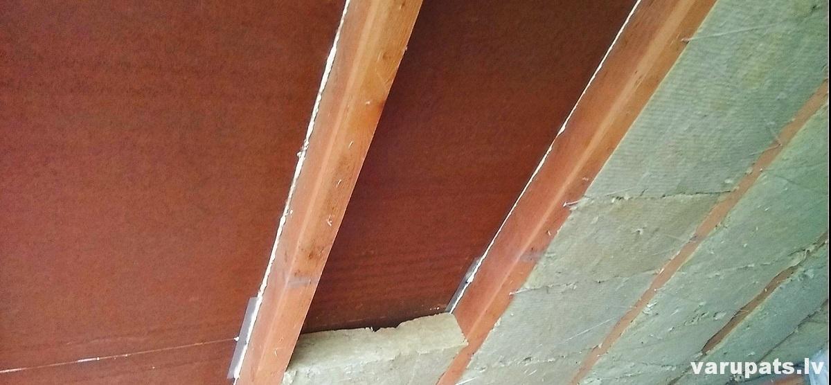 vates pakosana jumta, siltinat mansardu, sailtinat jumta konstrukciju ar vati, jumta siltinasana