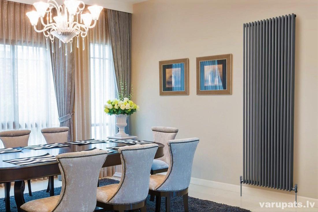 dizaina radiators melns, dizaina radiators tuba, vertikālais dizaina radiators